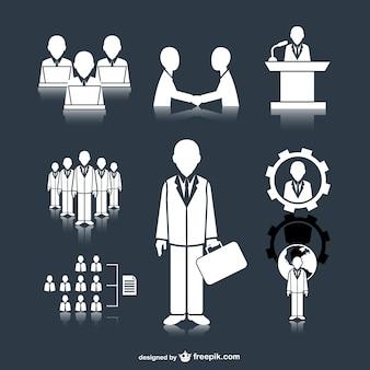 Zakelijke bijeenkomst mensen pictogrammen