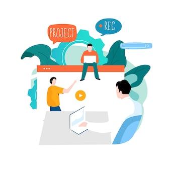 Zakelijke bijeenkomst presentatie