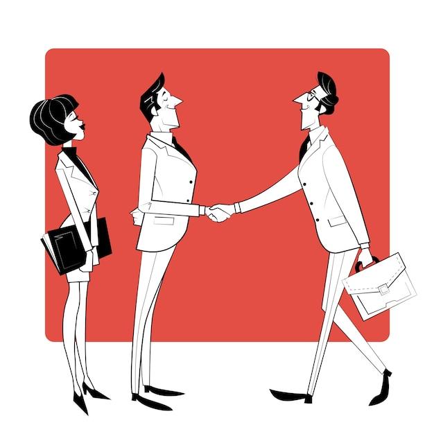 Zakelijke bijeenkomst, teamsamenwerking, samenwerking bij het zoeken naar oplossingen, professioneel marketingonderzoek.