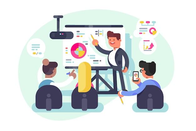 Zakelijke bijeenkomst teamwerk