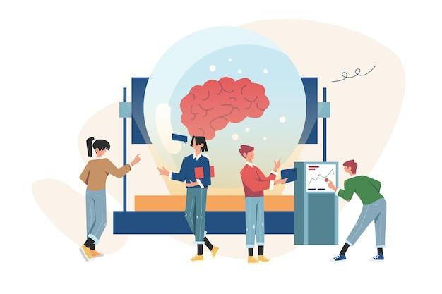 Zakelijke bijeenkomsten en brainstormsamenwerking zoeken naar nieuwe oplossingen
