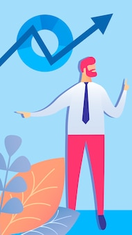 Zakelijke boekhouding, gegevens wetenschap illustratie