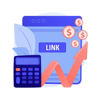 Zakelijke boekhouding, winstgroei, berekening. gegevensanalyse, analyse en statistieken. accountant, boekhouder met laptop stripfiguur