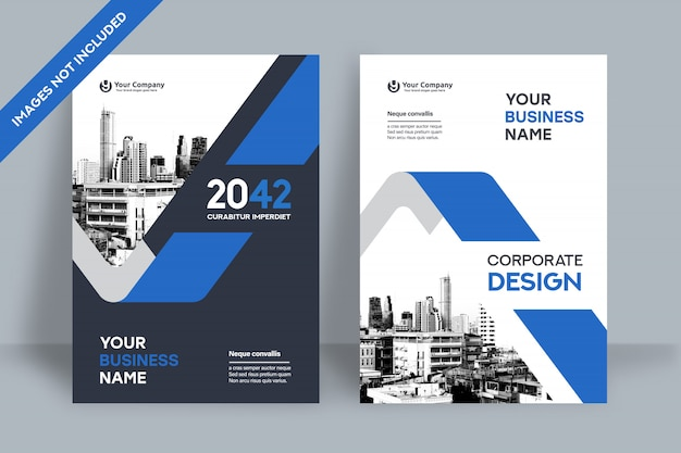 Zakelijke boekomslag ontwerpsjabloon