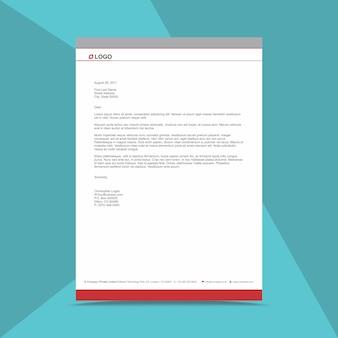 Zakelijke briefhoofd ontwerpsjabloon