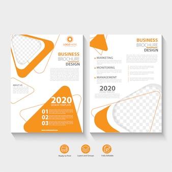Zakelijke brochure abstract ontwerpsjabloon