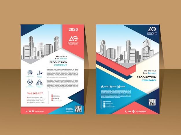 Zakelijke brochure achtergrond ontwerpsjabloon flyer layout poster magazine jaarverslag