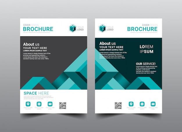Zakelijke brochure cover lay-out sjabloonontwerp.