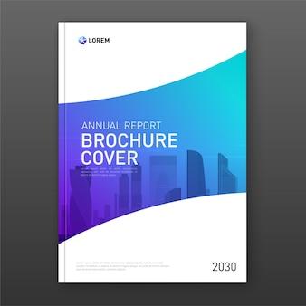 Zakelijke brochure cover ontwerp lay-out