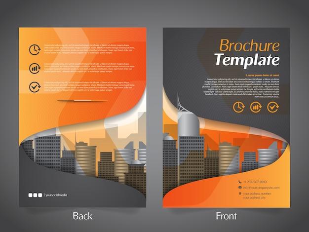 Zakelijke brochure flyer ontwerp lay-out sjabloon