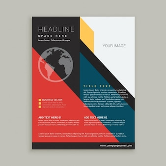 Zakelijke brochure flyer poster template