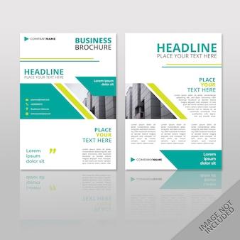 Zakelijke brochure green slash flat