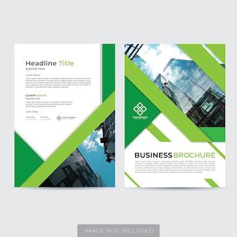 Zakelijke brochure lay-out sjabloon