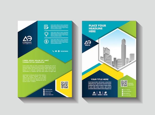 Zakelijke brochure lay-out