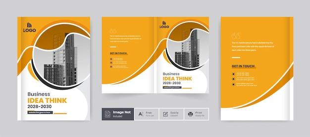 Zakelijke brochure ontwerp voorbladsjabloon zakelijke tweevoudige brochure presentatie thema lay-out