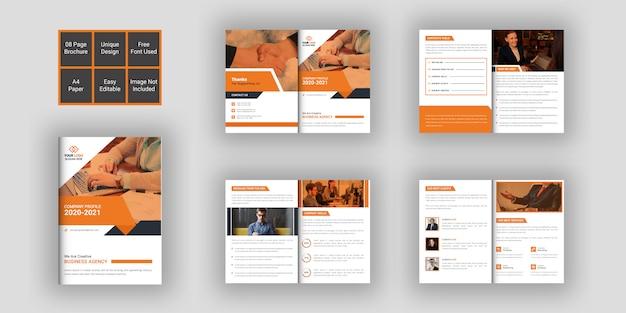 Zakelijke brochure ontwerpsjabloon 08 pagina's