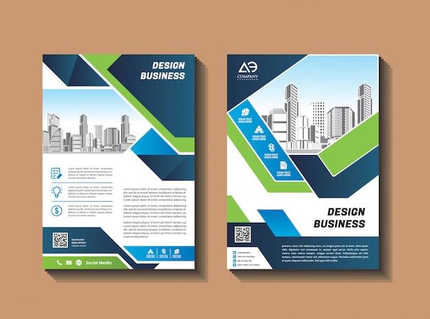 Zakelijke brochure ontwerpsjabloon flyer layout magazine jaarverslag