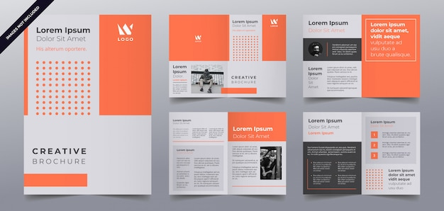 Zakelijke brochure pagina's sjabloon
