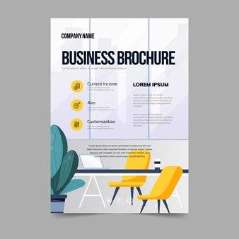 Zakelijke brochure poster sjabloon