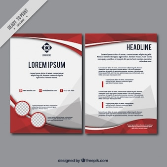 Zakelijke brochure sjabloon in abstracte stijl