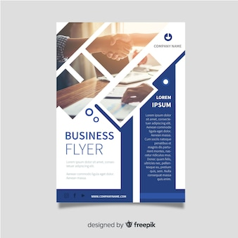 Zakelijke brochure sjabloon met foto