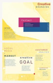 Zakelijke brochure sjabloon vector creatieve branding set
