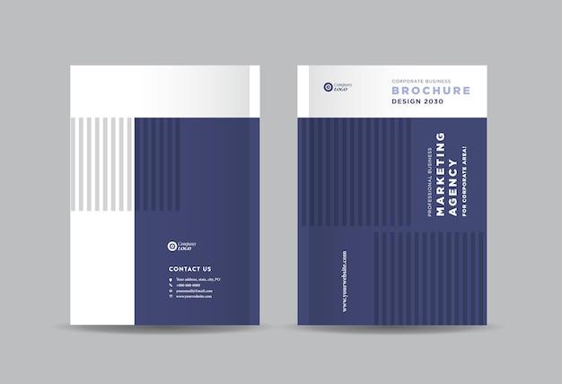 Zakelijke brochureomslagontwerp of jaarverslag en bedrijfsprofielomslag of boekjesomslag