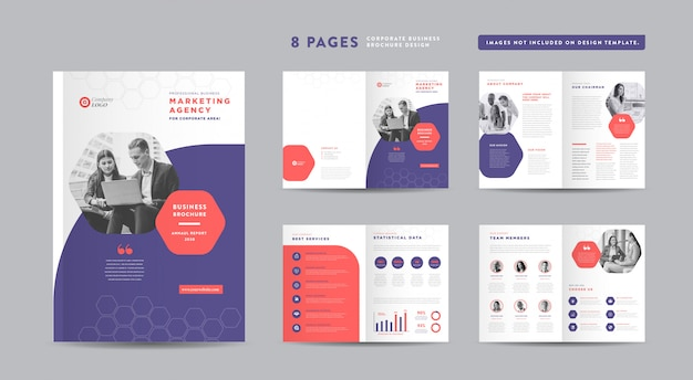 Zakelijke brochureontwerp | jaarverslag en bedrijfsprofiel | boekje en catalogus ontwerpsjabloon