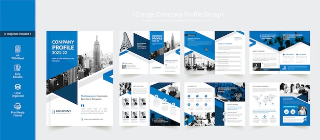 Zakelijke brochureontwerp of bedrijfsprofiel ontwerpsjabloon