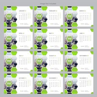Zakelijke bureaukalender 2020