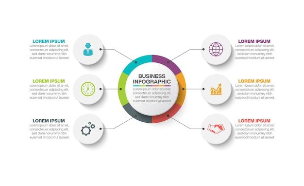 Zakelijke cirkel infographic sjabloon