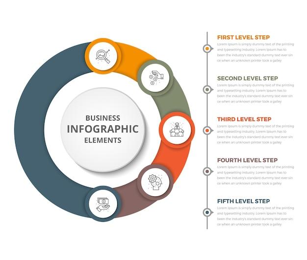Zakelijke cirkel infographics sjabloon