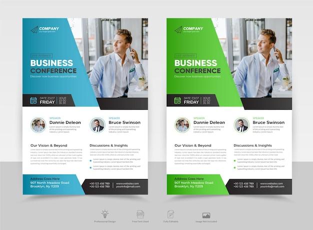 Zakelijke conferentie live webinar flyer poster brochure voorblad sjabloon premium vector