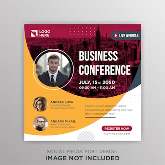Zakelijke conferentie live webinar social media postsjabloon