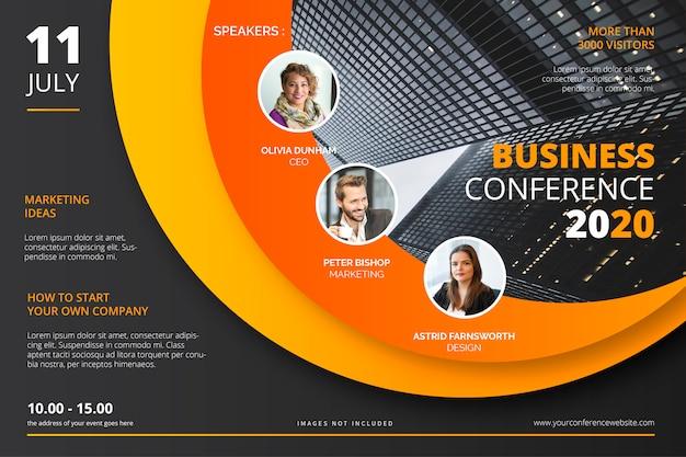 Zakelijke conferentie poster sjabloon
