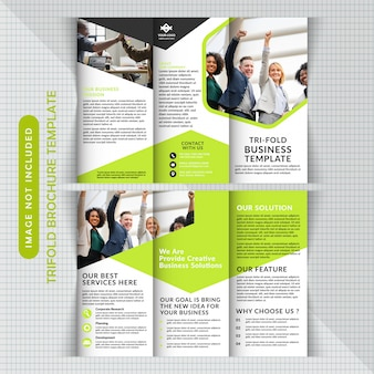 Zakelijke corporate tri fold-sjabloon
