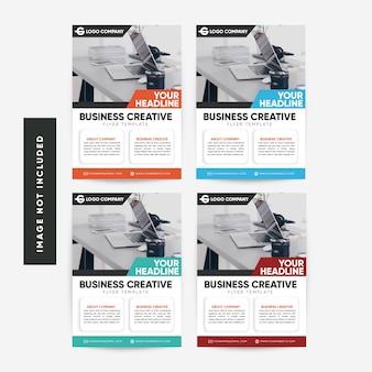 Zakelijke creatieve flyer collectie sjabloon