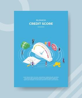 Zakelijke credit score flyer-sjabloon