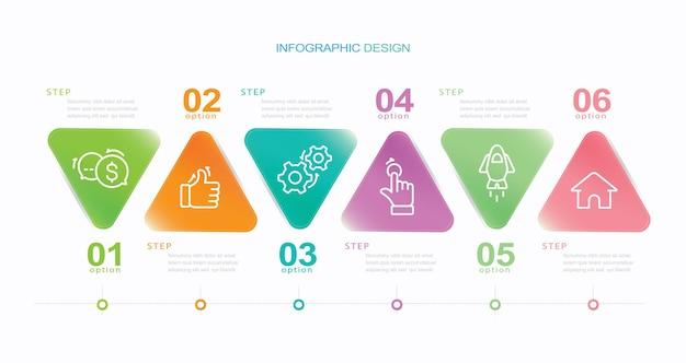 Zakelijke data visualisatie tijdlijn infographic pictogrammen ontworpen voor abstracte achtergrond sjabloon st