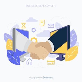Zakelijke deal concept achtergrond