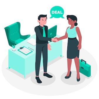 Zakelijke deal concept illustratie