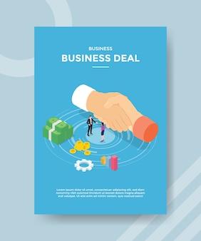 Zakelijke deal flyer-sjabloon