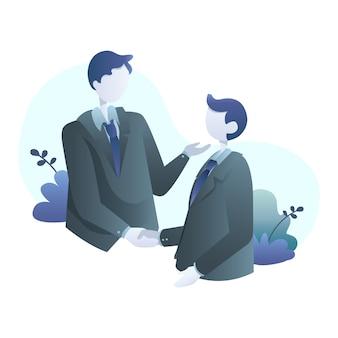 Zakelijke deals illustratie