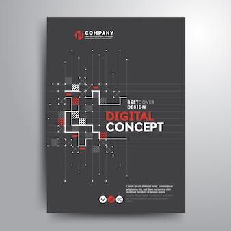 Zakelijke dekking brochure sjabloon digitale elektronische vormen