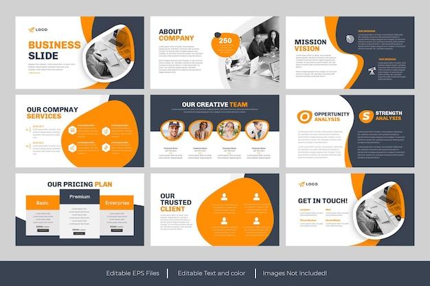 Zakelijke dia sjablonen powerpoint presentatie