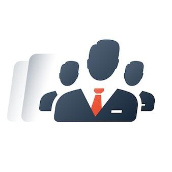 Zakelijke dienstverlening, topmanagement van het bedrijf, financiële rekening