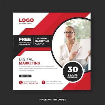 Zakelijke digitale marketing social media post en webbannersjabloon