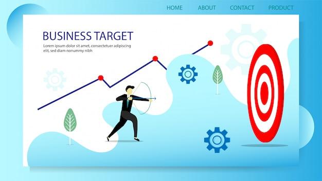 Zakelijke doel concept illustratie
