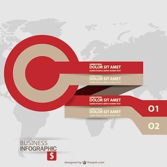 Zakelijke doelvector label infographic