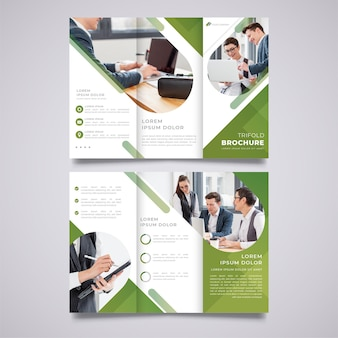 Zakelijke driebladige brochure afdruksjabloon